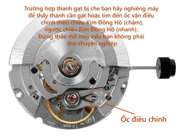 cach chinh dong ho co nhanh cham