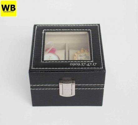 hộp đựng đồng hồ da simili