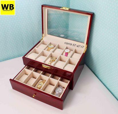 hộp đựng đồng hồ gỗ