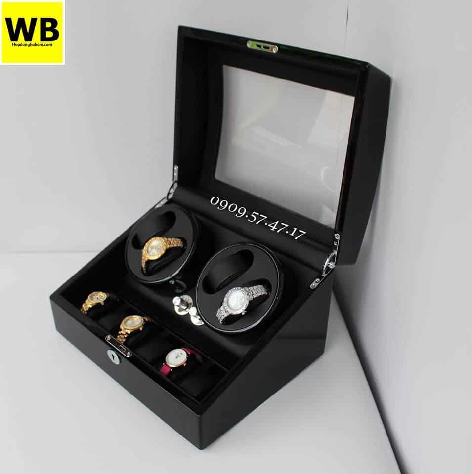 hộp đồng hồ cơ automatic màu đen cá tính