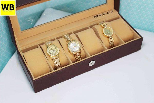 Hộp đồng hồ da simili