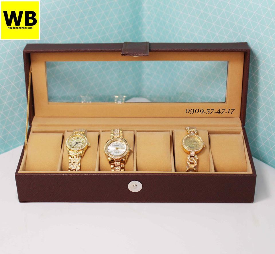 hộp đựng đồng hồ da lộn