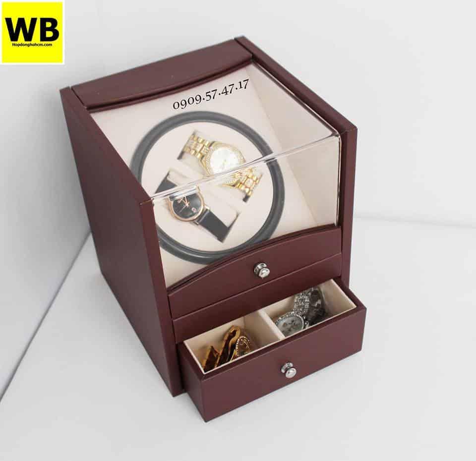 hộp đồng hồ 2 xoay 2 trưng bày