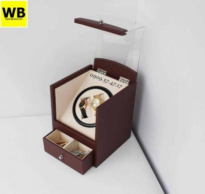 hộp đựng đồng hồ cơ 2 xoay 2 trưng bày