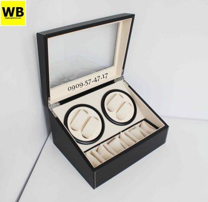 hộp lắc đồng hồ cơ bằng gỗ đẹp