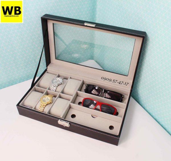 hộp đựng đồng hồ và kính