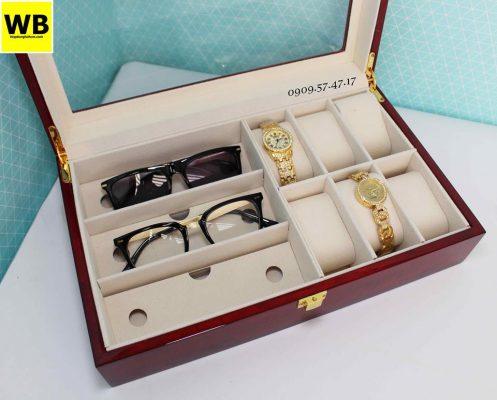 Hộp đựng đồng hồ mắt kính gỗ 2