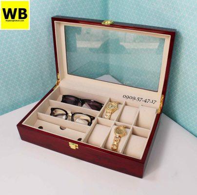 Hộp đựng đồng hồ mắt kính gỗ 5