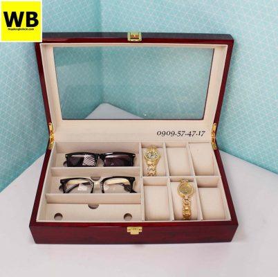 Hộp đựng đồng hồ mắt kính gỗ 3