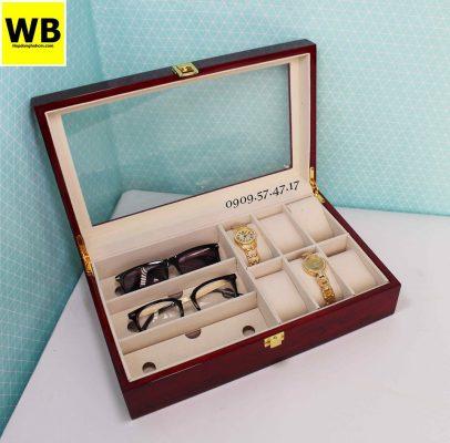 Hộp đựng đồng hồ mắt kính gỗ 1