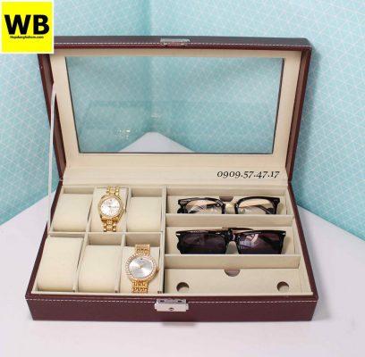 Hộp đựng đồng hồ mắt kính nâu 1