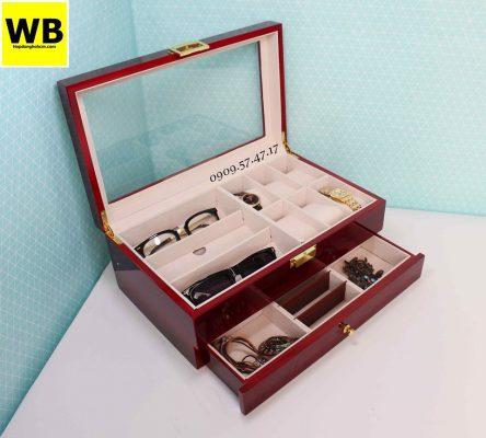 Hộp đựng đồng hồ trang sức và mắt kính