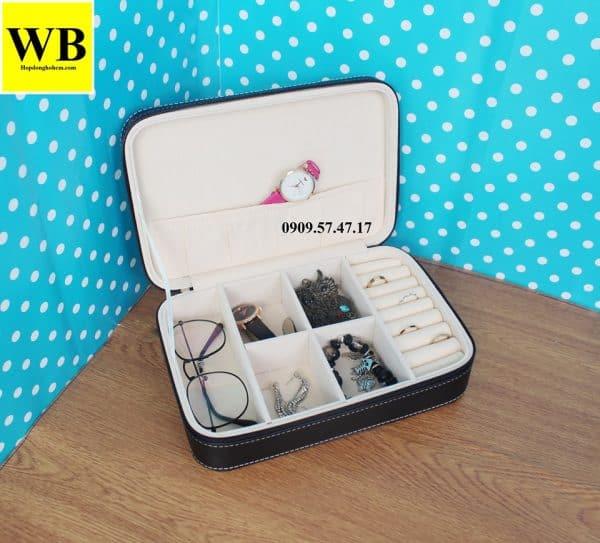 Hộp đựng đồng hồ và mắt kính trang sức mini