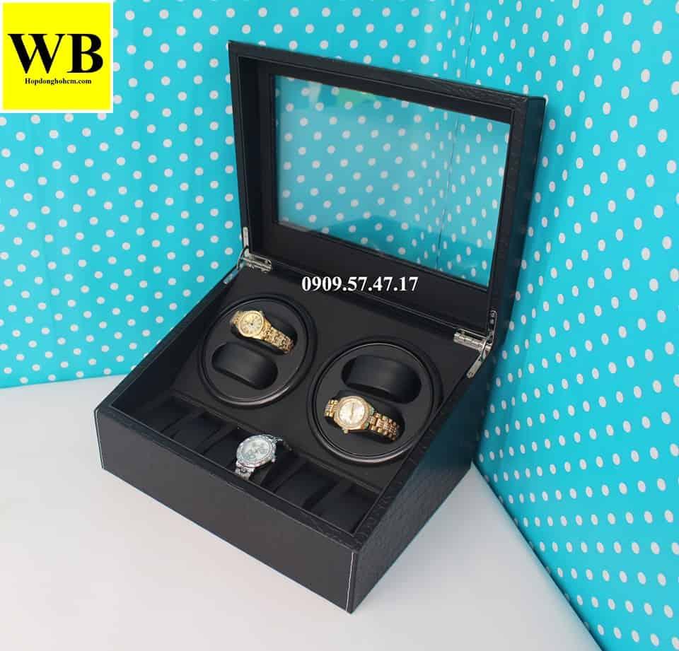 Hộp đồng hồ 4 xoay 6 trưng bày