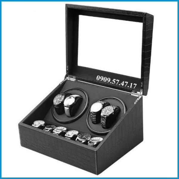 mẫu hộp xoay đồng hồ kết hợp trưng bày