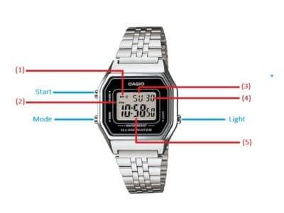 chỉnh ngày giờ cho đồng hồ casio của bạn