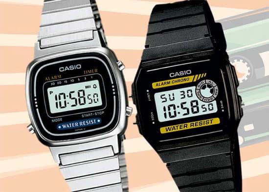 chỉnh ngày giờ cho đồng hồ đeo tay casio