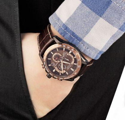 cách đeo đồng hồ dây da nam