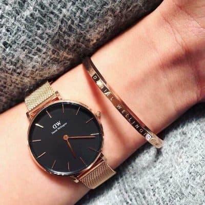 cách đeo đồng hồ dw kèm vòng