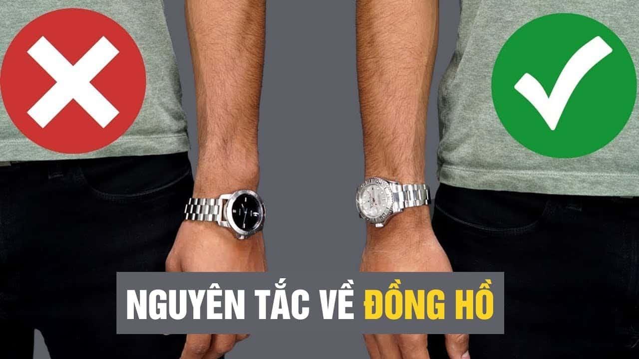 cách đeo đồng hồ đúng với nguyên tắc khi đeo