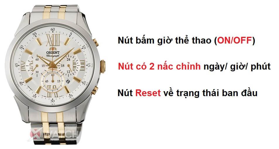 sử dụng chức năng chronograph