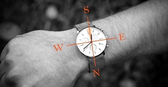 xác định đúng hướng bằng đồng hồ đeo tay nhanh chóng