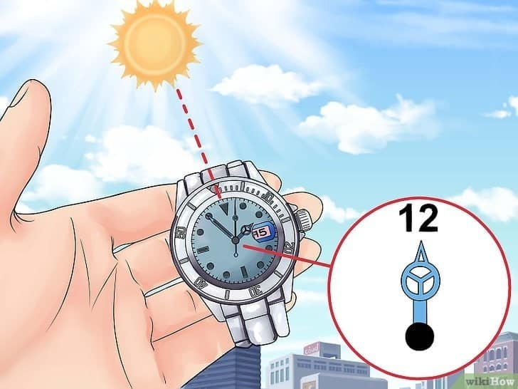 cách xác định hướng theo giờ nhờ vào đồng hồ đeo tay