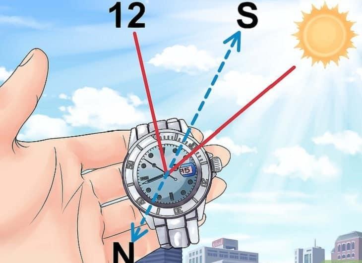 Giúp bạn xác định đúng phương hướng nhờ chiếc đồng hồ đeo tay
