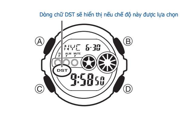 chức năng worldtime của đồng hồ g-shock