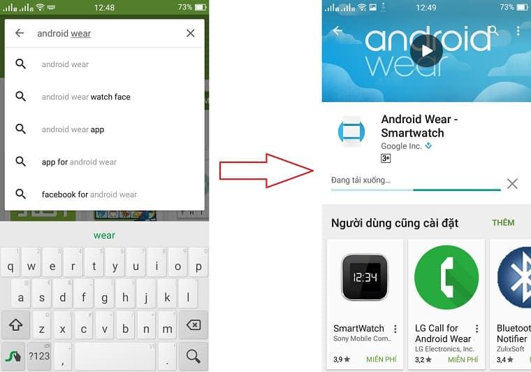 hướng dẫn cách kết nối đồng hồ thông minh với điện thoại android
