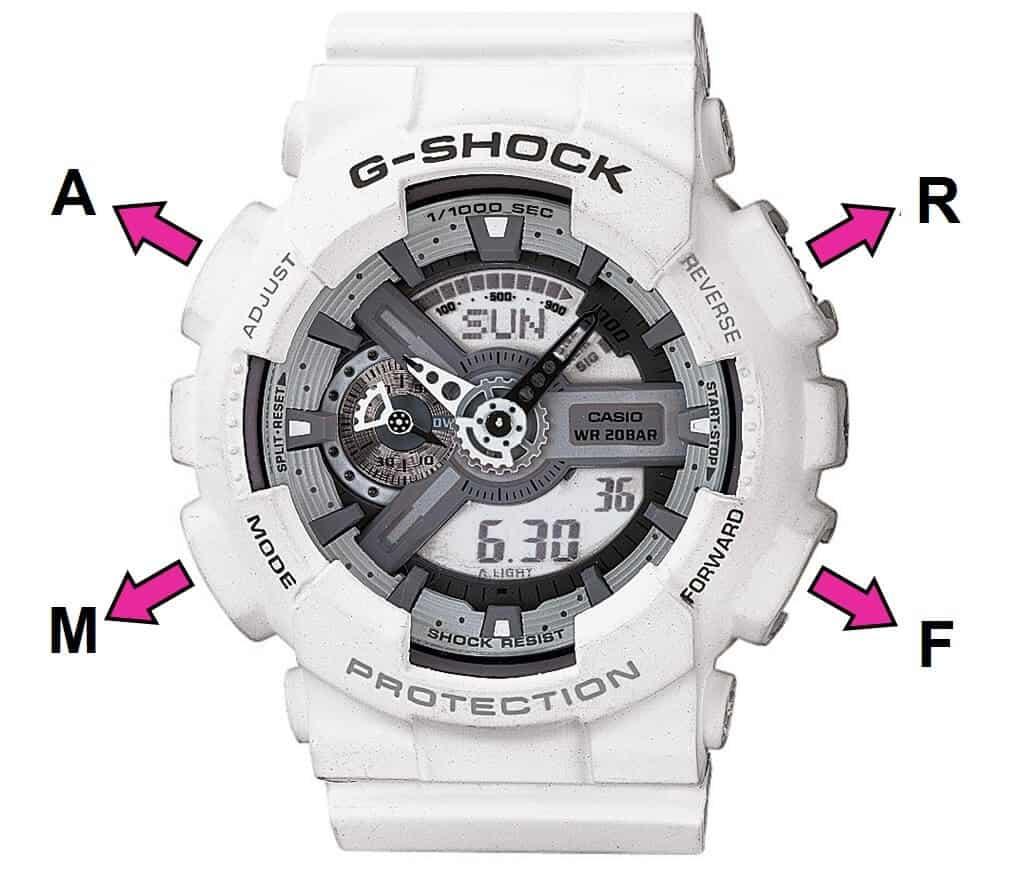 hướng dẫn cách dùng cơ bản trên đồng hồ g shock