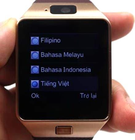 hướng dẫn cách sử dụng ngôn ngữ trên đồng hồ smartwatch a1