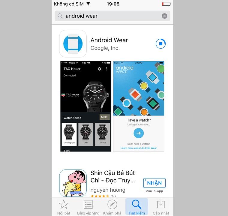 hướng dẫn kết nối iphone với đồng hồ thông minh hệ android