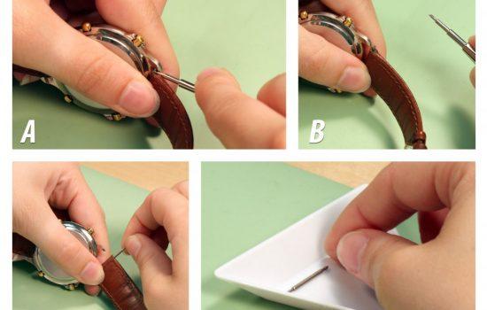mách bạn cách tháo dây đồng hồ dây da tại nhà
