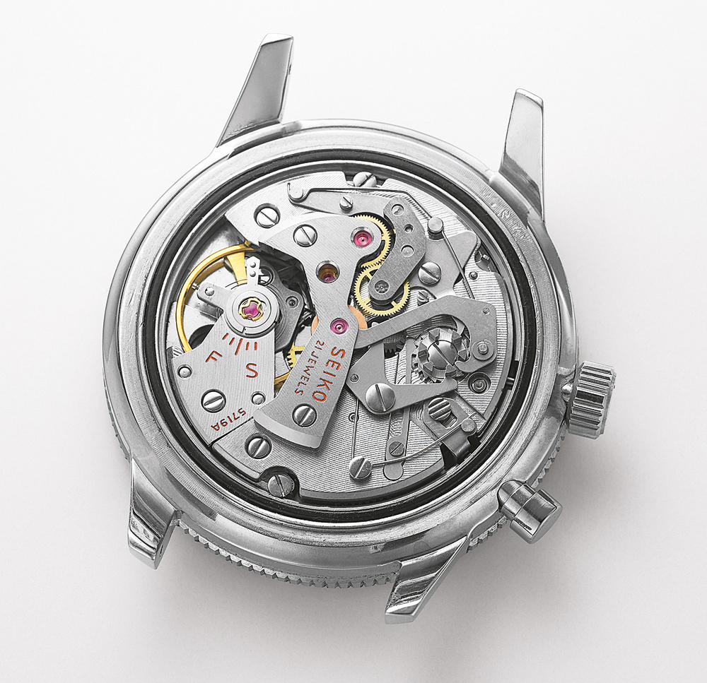 bộ máy chức năng chronograph sử dụng trên đồng hồ seiko