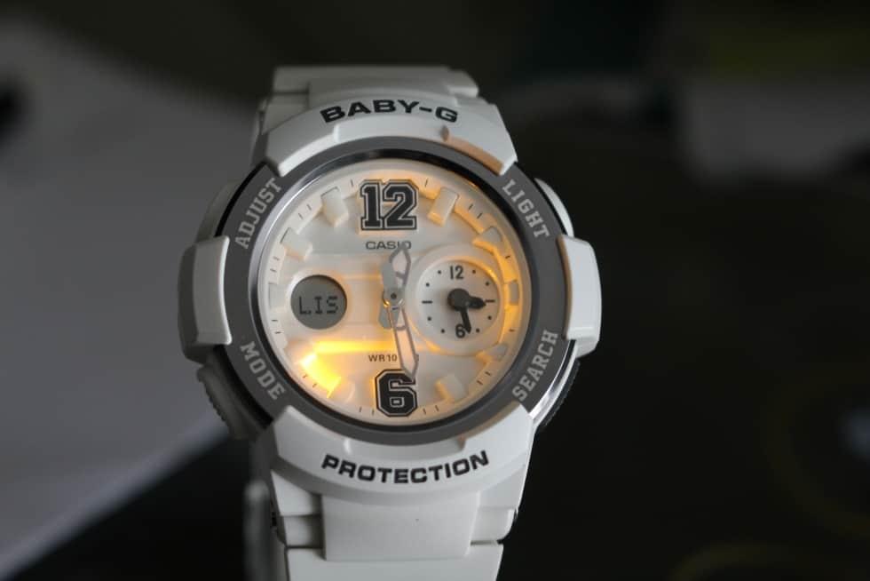 chỉnh đèn led đồng hồ baby-g