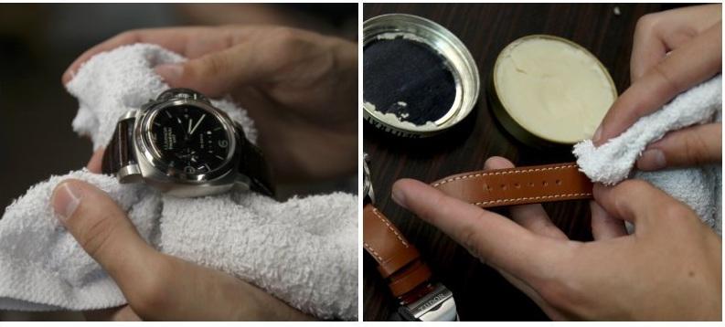 vệ sinh dây da đồng hồ đúng sao cho đúng cách