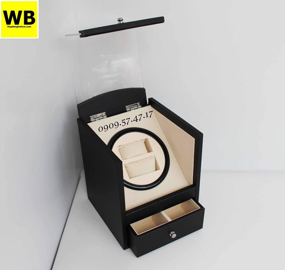 hộp xoay đồng hồ bằng da simili 1 chế độ