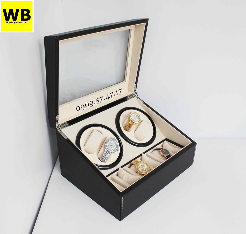 mẫu hộp xoay đồng hồ kết hợp các ngăn trưng bày