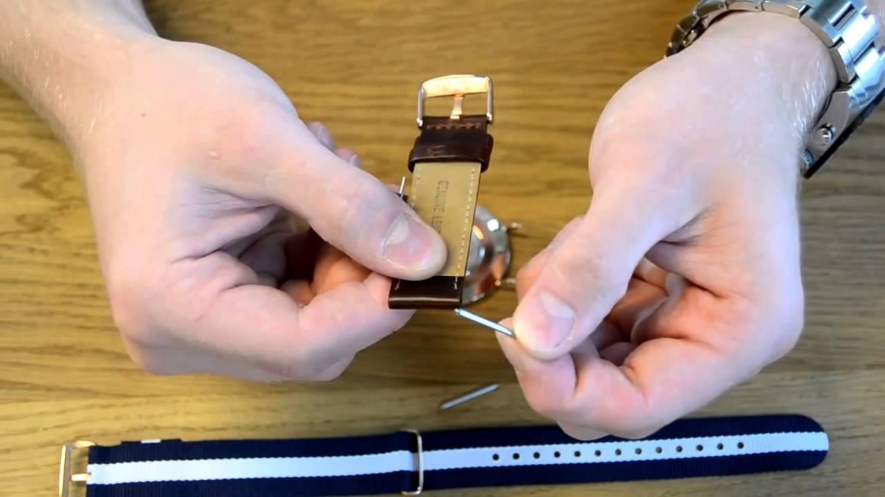 hướng dẫn tháo chốt dây cho đồng hồ