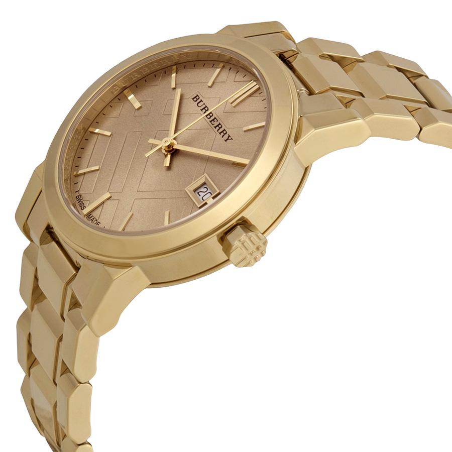 đồng hồ burberry thật được phân biệt dễ dàng qua thiết kế kim đồng hồ