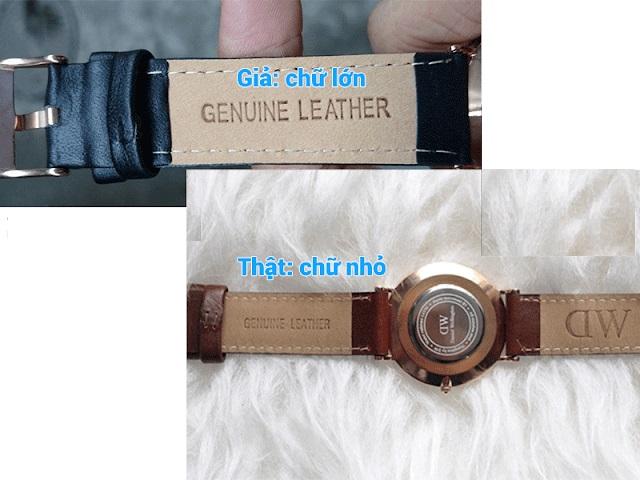 phân biệt đồng hồ qua dây đeo có chính hãng không