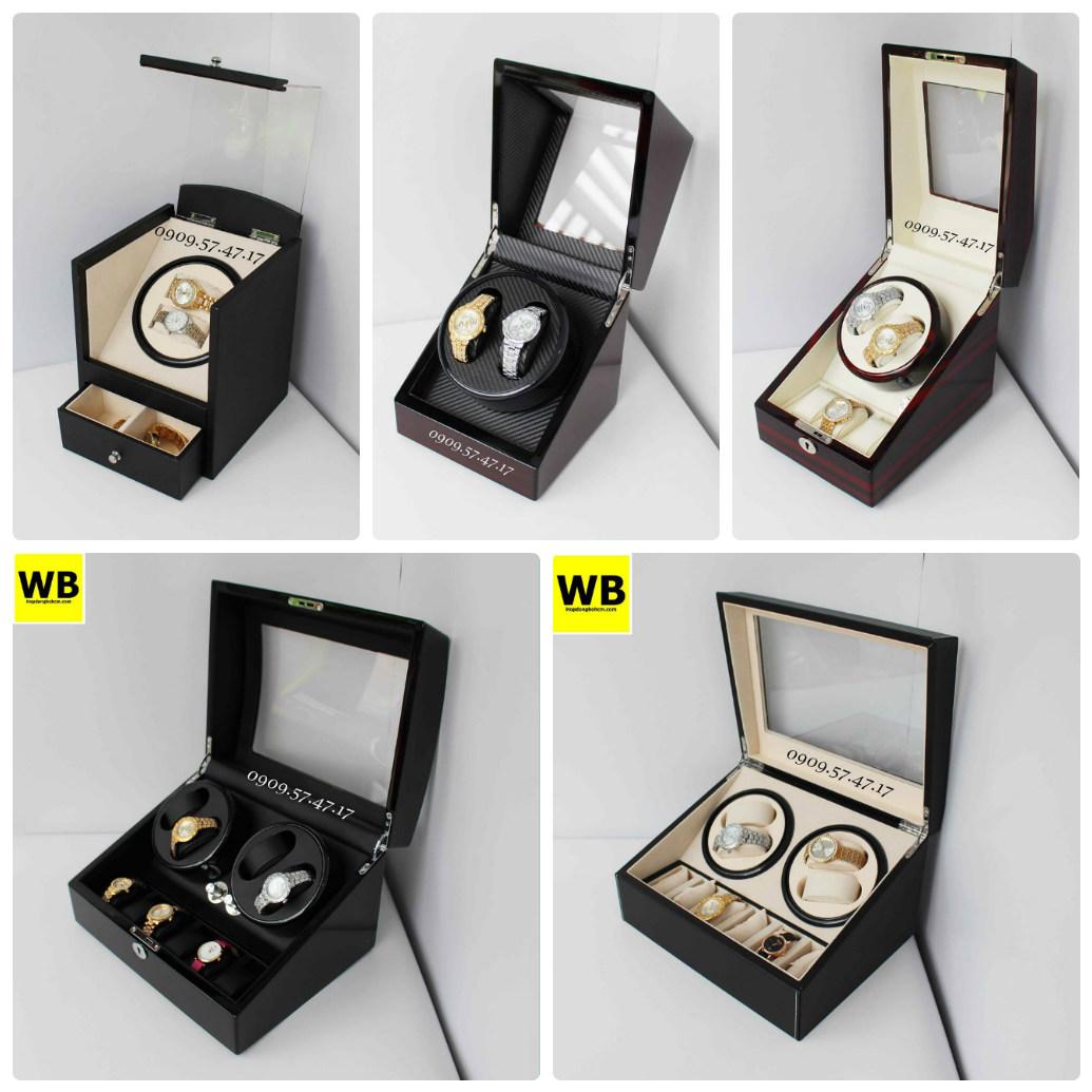 Chất liệu hộp đựng đồng hồ cơ chủ yếu từ gỗ hoặc da pu