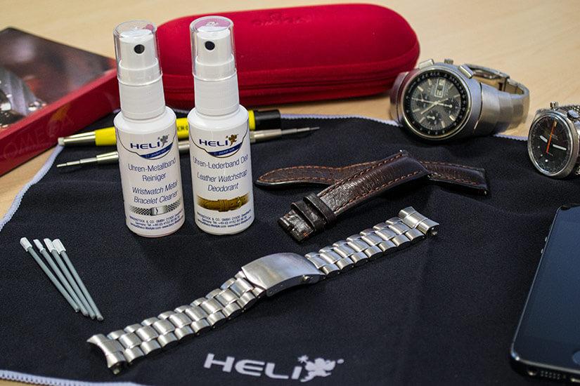 cách vật dụng cần khi vệ sinh dây đồng hồ