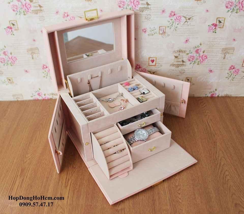 hộp đựng trang sức cao cấp bằng khung gỗ