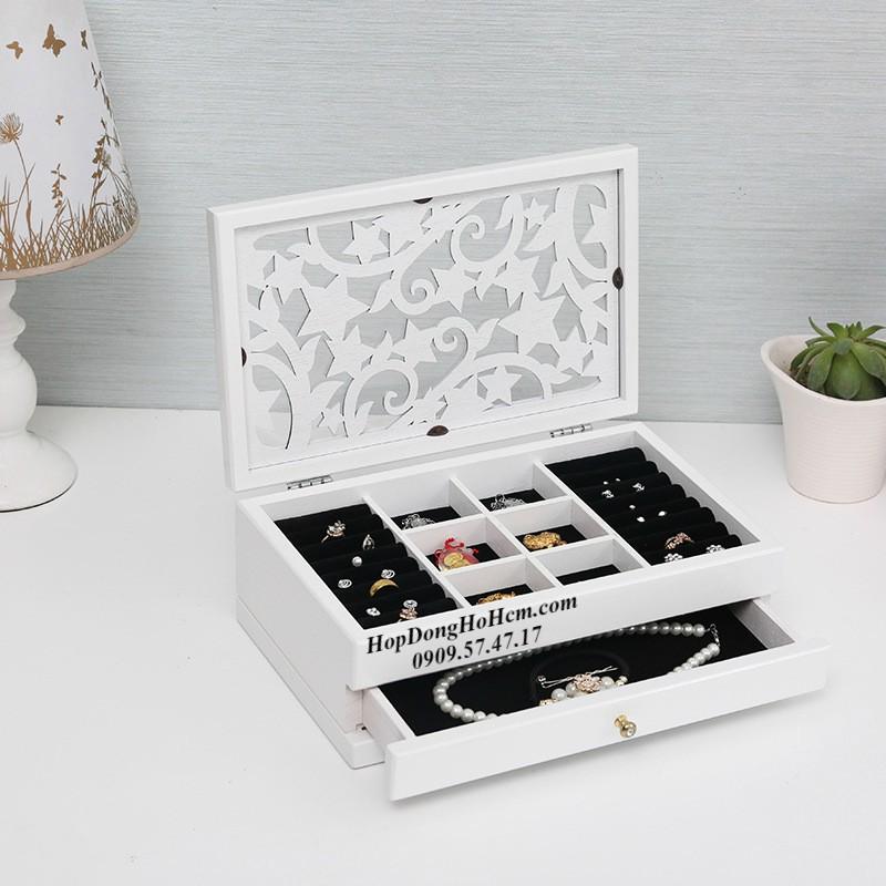 review hộp đựng nữ trang bằng gỗ