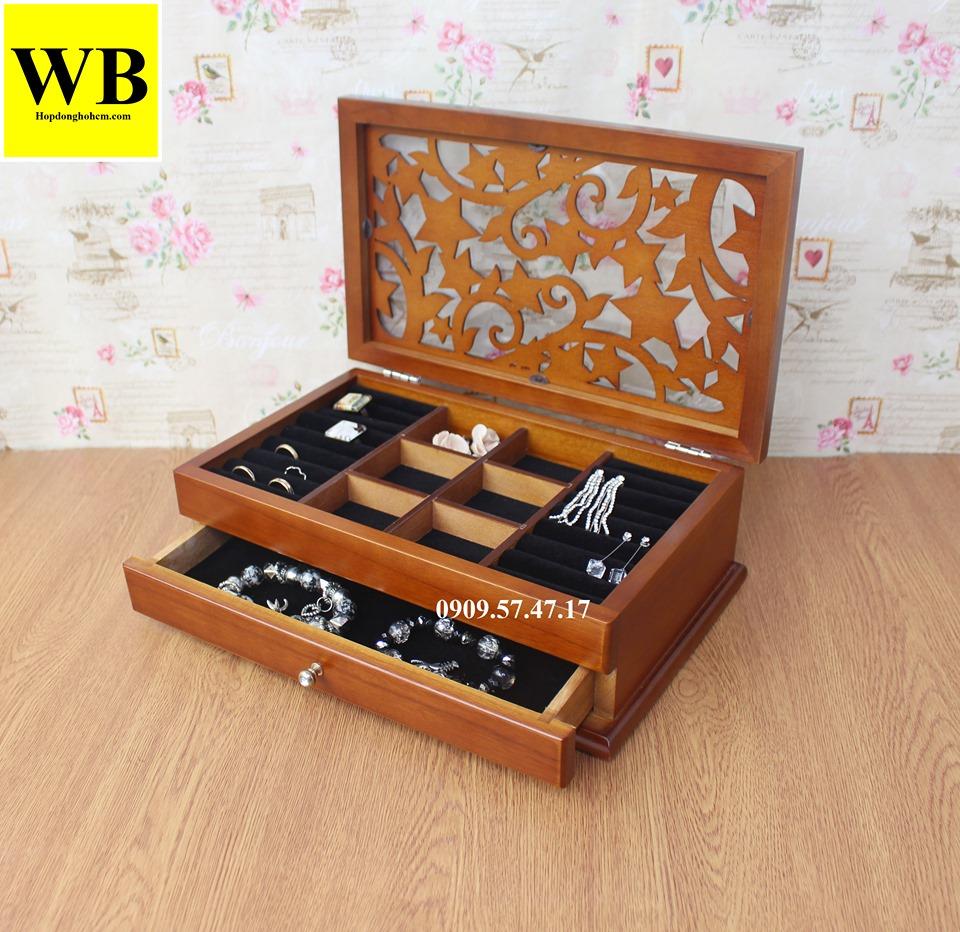hộp đựng trang sức cưới bằng gỗ
