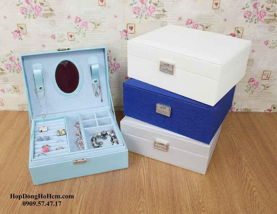 hộp đựng nữ trang có khóa chìa an toàn